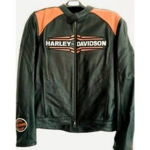 New Harley Davidson Pipes Leather Riding Jacket XL